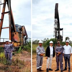 Kunjungan Dirut PT PP Energi ke lapangan minyak Odira