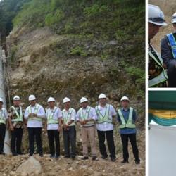 kunjungan bupati ke proyek PLTM Lau Gunung