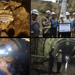 Tersambungnya tunnel PLTM Lau Gunung